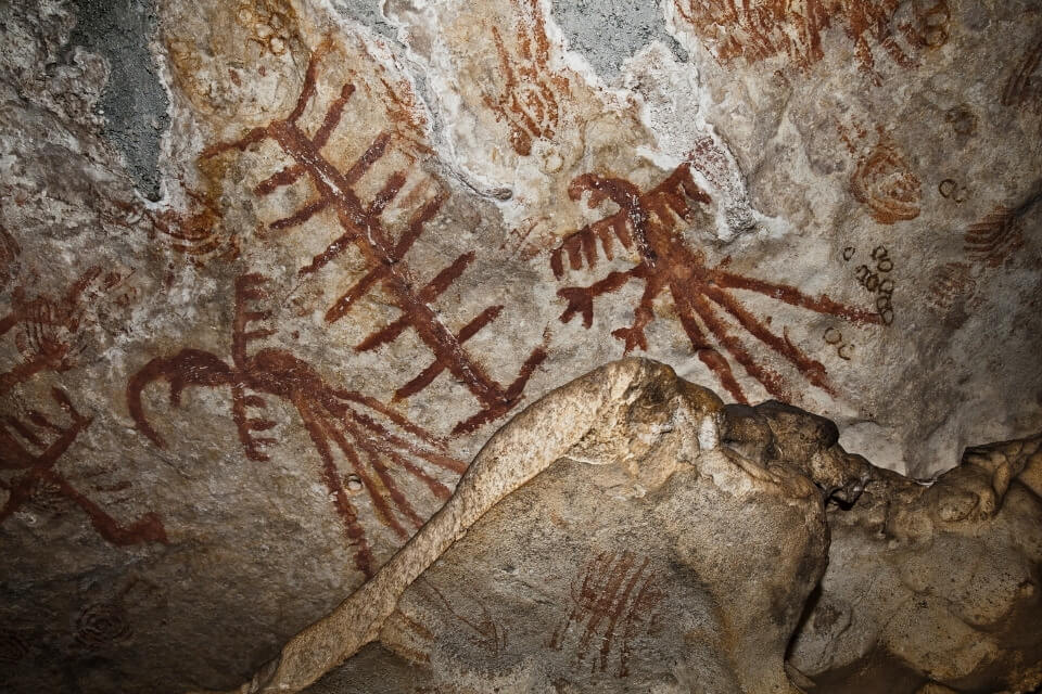 spanish caves Mesolithic rock painting